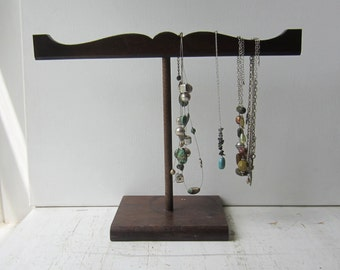 Necklace Display - Necklace Organizer - Necklace Storage -  Architectural Salvage - Dark Brown Wooden Jewelry Display READY to SHIP