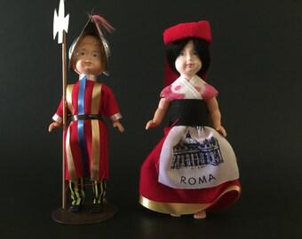 Vintage Dolls - Set of 2 - Collectible - Souvenir