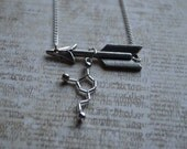 Biolojewelry - Customizable Arrow Neurotransmitter Molecule Necklace