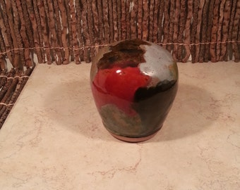 READY TO SHIP - Pottery Cremation Urn - Wheel Thrown Clay - Keepsake Cremains Jar For Family Member or Pet Ashes - Dunes - Up to 12 lbs