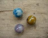 Set of 3 ceramic beads - eco-friendly ceramic beads
