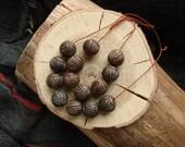 Set of 7 ceramic round beads - eco-friendly ceramic  round beads