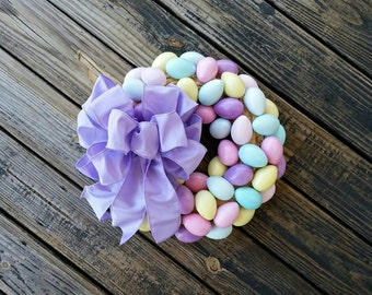 Easter Wreath, Easter Egg Wreath, Egg Wreath,  Spring Wreath
