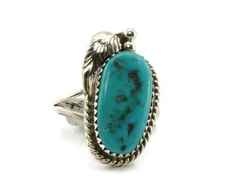 Sleeping Beauty Turquoise & Sterling Silver Native American Ring