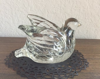 AVON Dove Votive Holder / Vintage AVON Dove in Flight Tealight Holder / Votive Candle Holder AVON 1970's