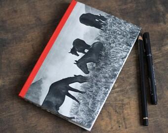 "Hand Bound Journal ""Horses"", Handmade Blank Book"