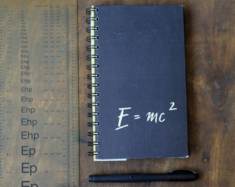 """Recycled Notebook Tartuensis College """"Einstein"""", Altered Spiral Notebook"""