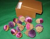 Velvet Acorn Bowl Filler Fall Decor Acorns Tops Silk Velvet