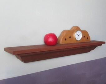 Crown Molding Shelf - Small Shelf - Wall Shelf - Handmade Shelf - Recyled Wood Shelf - Small Wall Shelf - Wood Wall Shelf - Brown Wall Shelf