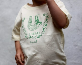 Sleepy Sloth organic cotton Unisex kids tee. Perfect for any animal loving kid! SALE