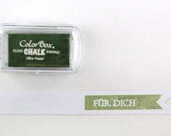 ♥ OLIVE - olive pastel chalk ink pad C...