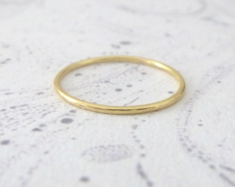 18ct Red Gold Midi Ring - Made To Order
