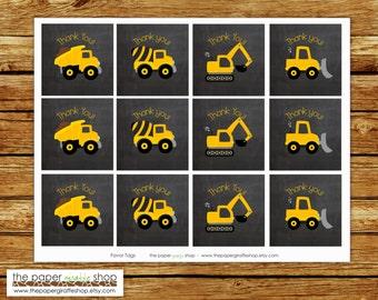 Construction Favor Tags | Construction Party | Construction Birthday Party | Construction Birthday Party Favor Tags | Instant Download