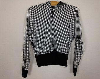 black and white checkered jacket size S/M