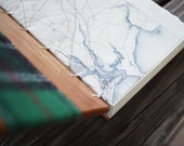 Green flannel Inlaid wooden guest book