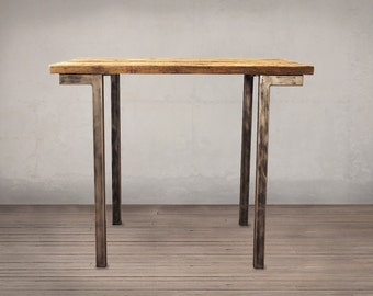 Reclaimed Wood Bar Table
