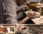 Pendientes y anillo hechos a mano