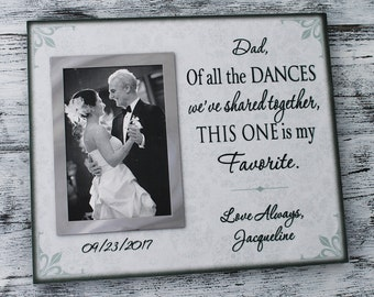 Father of the bride gift, wedding gifts for parents, dad Christmas gift, fathers day gift, dad birthday gift, canvas wedding frame, CAN-314