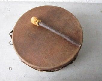"Sweat Lodge Drum 13"" Rawhide  Regalia Pow Wow Tribal Dance Native Inspired Music"