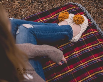 Crochet Pattern for the Cabin Slippers (Women's Sizes 5-12) PDF Instant Download