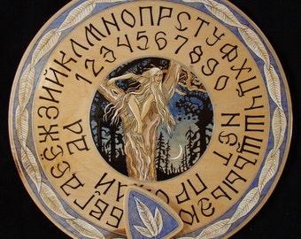 "Ouija board - Spirit board - Talking board ""May Night"" / Any Alphabet & Free Shipping"