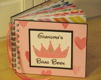 Grandma's Brag Book Photo Album Scrapbook keepsake Grandchildren Zine Journal Baby Child Memory Maker Shower Gift Birthday Christmas Idea