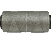 Waxed Cord * Macrame Cord * Jewelry Thread * Waxed Polyester 0.8mm - 16 yards/15 meters - LIGHT GREY