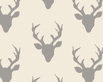 Buck forest in silver - Hello Bear for Art Gallery Fabrics