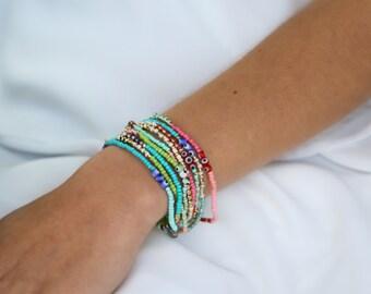 Beaded Bracelet/Necklace - set of 3