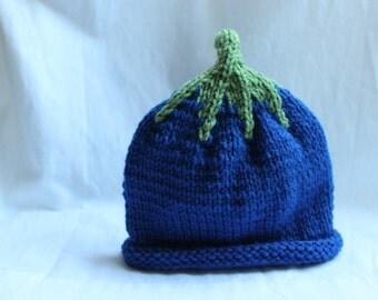 Blueberry Hat {Infant size}