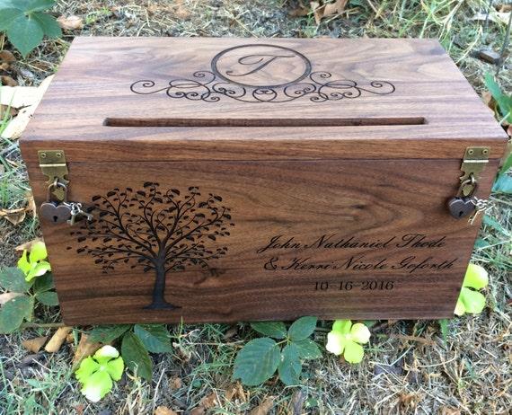 Gift Card Boxes Wedding: Wedding Card Box Rustic Wedding Wedding Gift Card Box