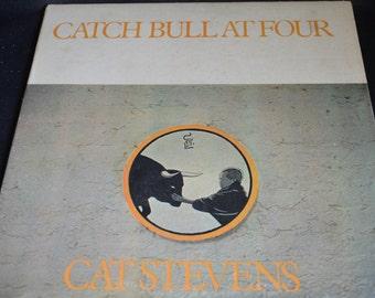 Vintage Vinyl Gatefold Record Cat Stevens: Catch Bull at Four Album SP-4365