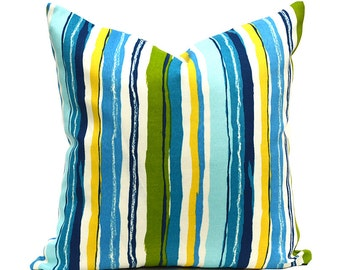 Indoor Outdoor Pillow Covers ANY SIZE Decorative Pillows Turquoise Pillow Mill Creek Outdoor Sigmund Caribbean