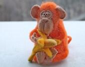 Needle Felted Toy - Monkey - Felt Toys