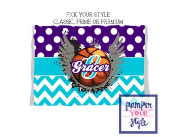 Basketball Team Blanket - Pick Your Colors - Graduation Gift - Throw Blanket - Personalized Blanket