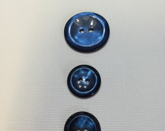 Beautiful blue vintage buttons.