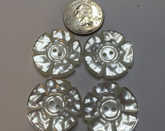 Vintage mother of pearl LARGE buttons x 4