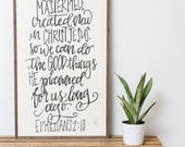 God's Masterpiece {Handlettered} 2x4