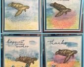 Seaside 4x4 Cards-Set of 6