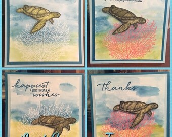 Seaside 4x4 Cards-Set of 6