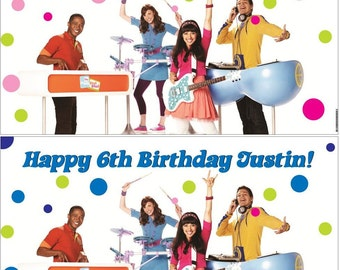 Custom Vinyl Fresh Beat Band Birthday Party Banner Decorations with Child's Name