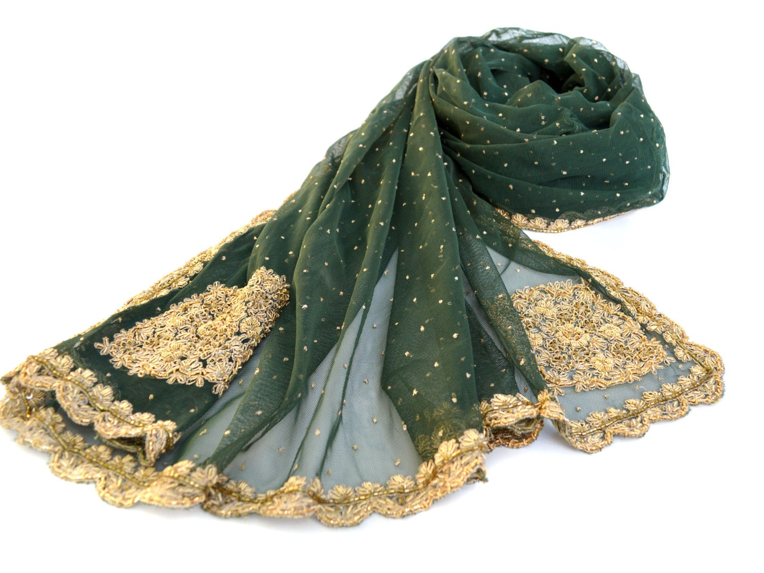 green beaded shawl embroidered wrap evening shawl olive