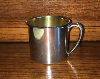 Vintage Oneida Silver Plate Baby Cup [F]