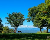 Landscape Photography, Jump Off Rock Mountain, Hendersonville, Bench, North Carolina, Inspirational, Prints, Various Sizes