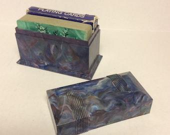 Marbled Plastic Card holder