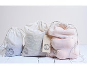 bag to bulk lot of 3 organic cotton voile