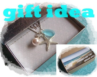 STARFISH NECKLACE - Bridesmaid STARFISH Necklace, Starfish Jewelry, Beach Wedding Jewelry, Starfish Gift,  Starfish Jewelry Necklace