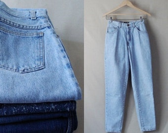 FREE SHIPPING, 80's Gap Blue Jeans, Light Blue Jeans.  Straight Cut Legs