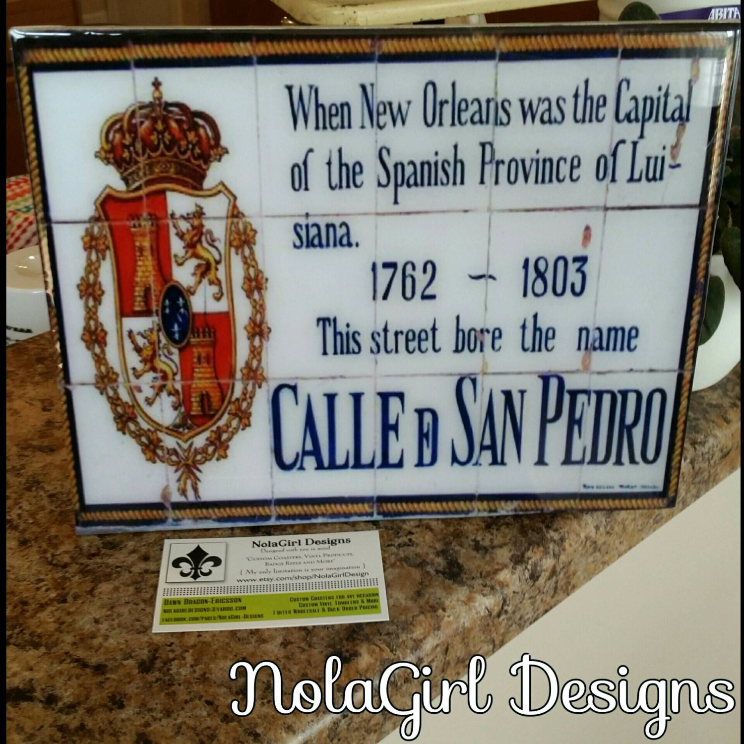 New Orleans Home Decor Stores: New Orleans; Louisiana, French Quarter, Spanish Tile