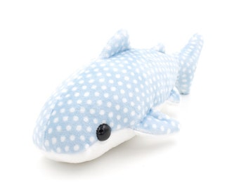 Blue Whale Shark Stuffed Animal, Plush Toy, Whale Shark Plushie, Whale Softie - MADE TO ORDER